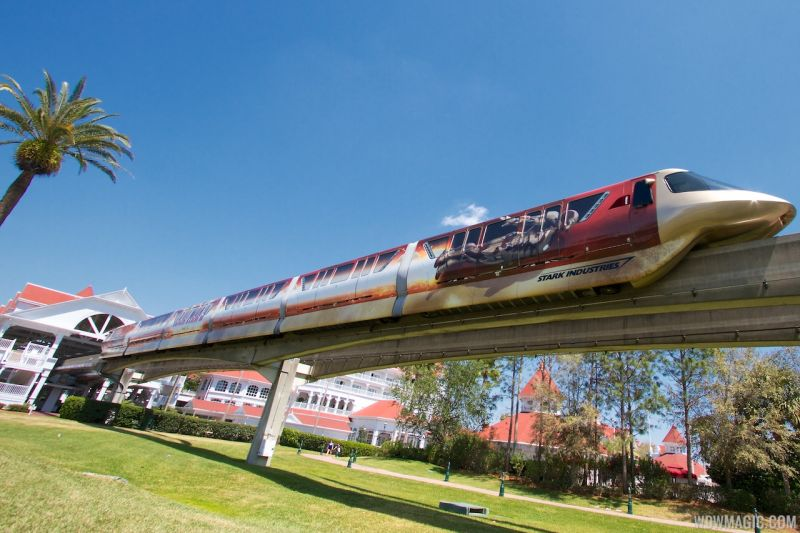 Monorail - Grand Floridian Station - Iron Man 3
