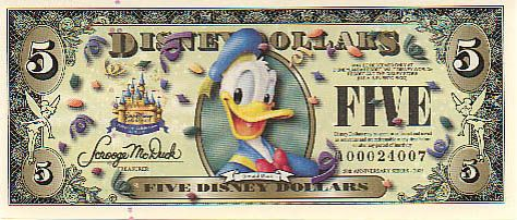 Disney Dollar 2007 - Donald