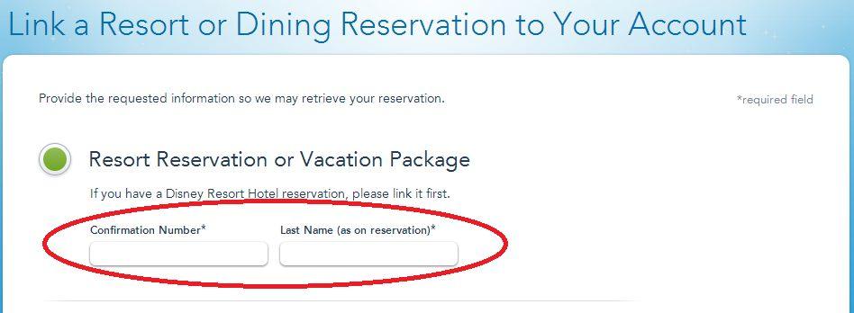 MyDisneyExperience - Link a Resort Reservation II