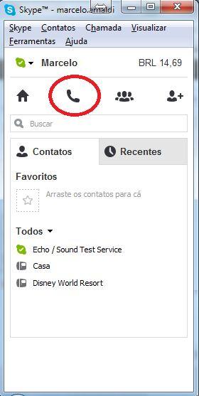 Skype - Ícone Telefone