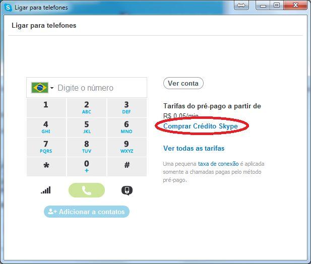 Skype - Créditos