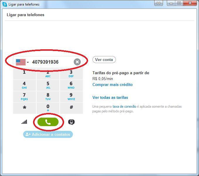 Skype - Ligando