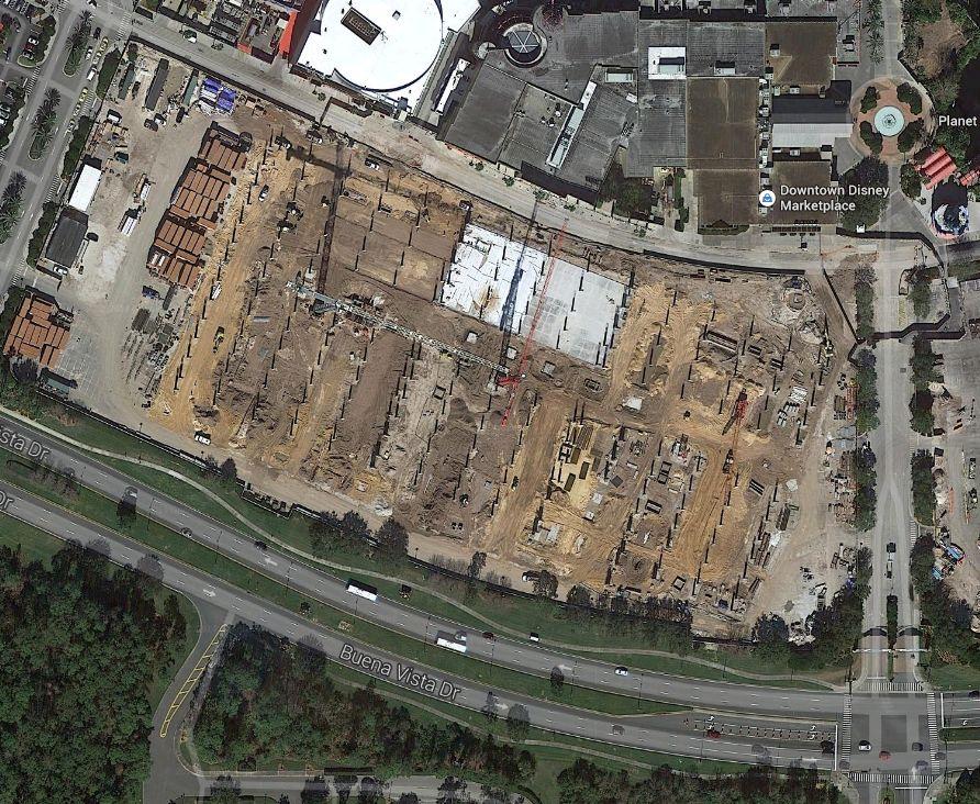 Downtown Disney em reforma - Edifício Garagem