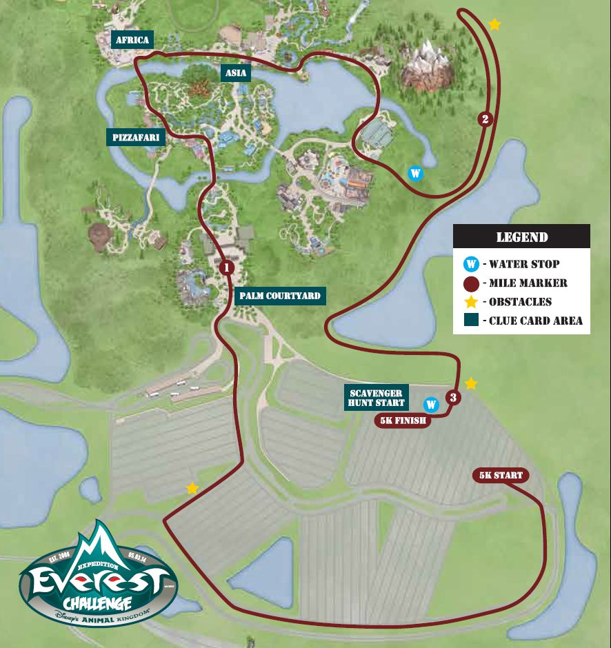 Expedition Everest Challenge - Mapa