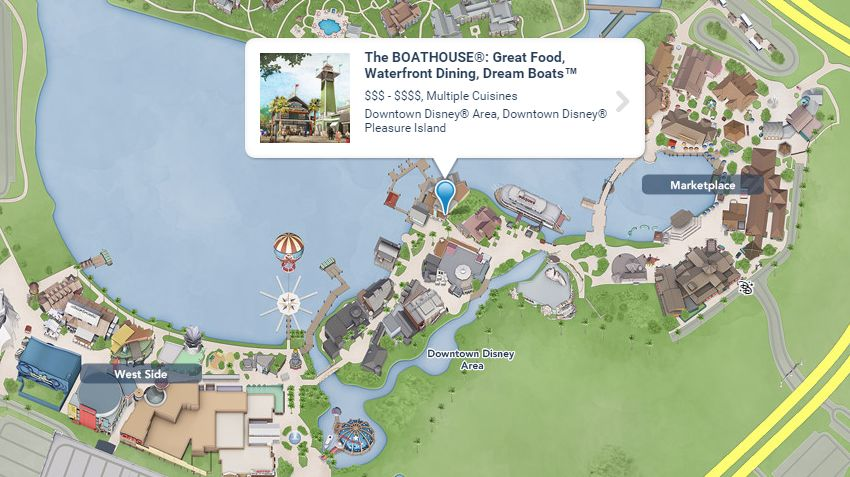 The Boathouse Disney Springs - Localização