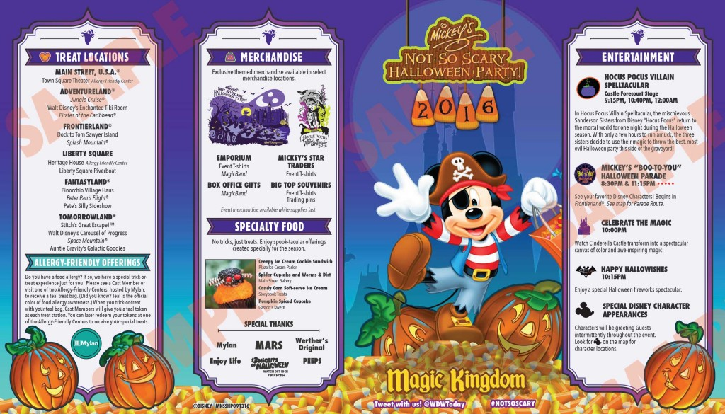 Mickeys Not So Scary Halloween 2016 - Programacao
