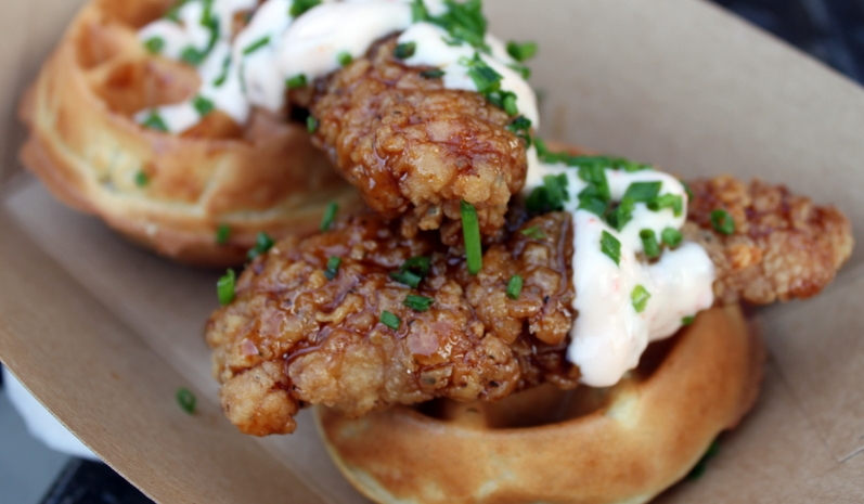 Exposition Park Food Trucks - Fantasy Fare Chicken and Waffles